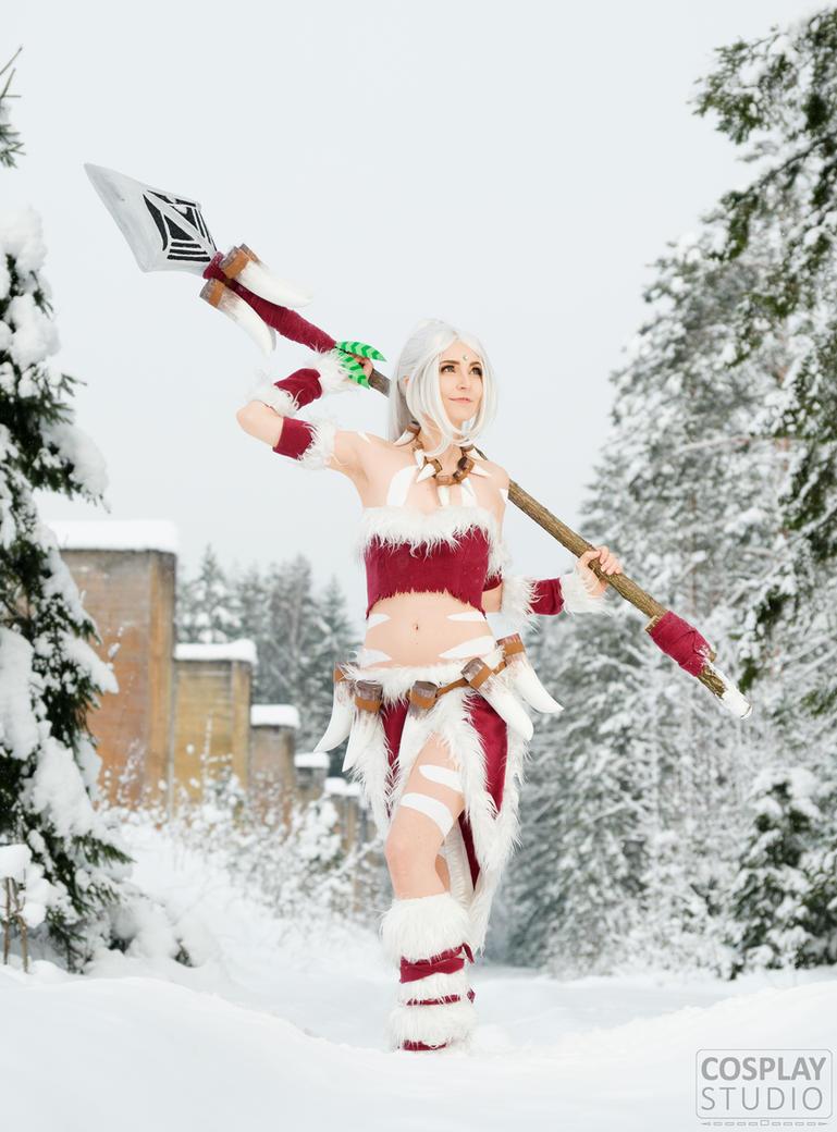Snow Bunny Nidalee Cosplay by WhiteSpringPro