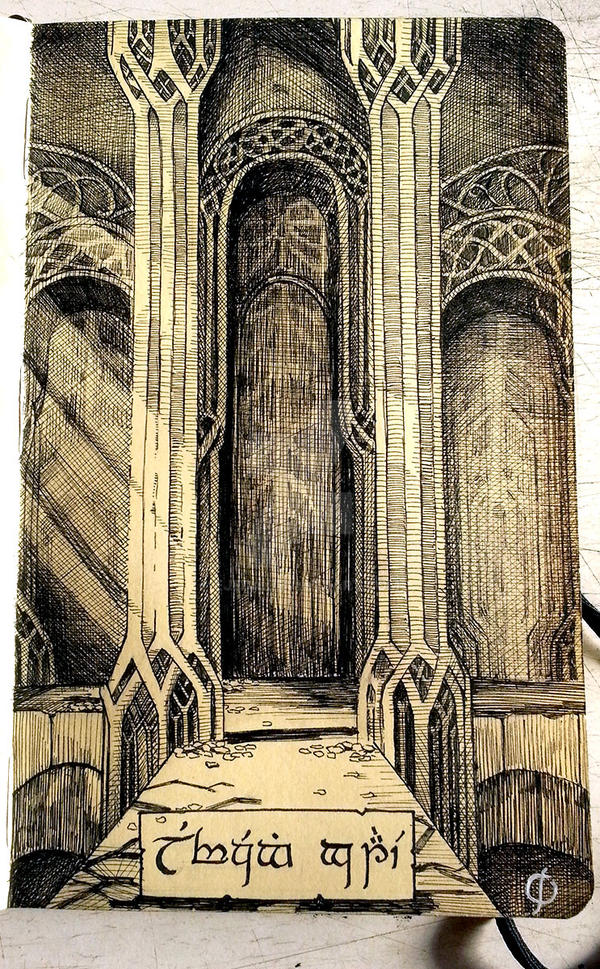 Inktober 2014 - Day 21 - Elvenking's Gate by Ejeda