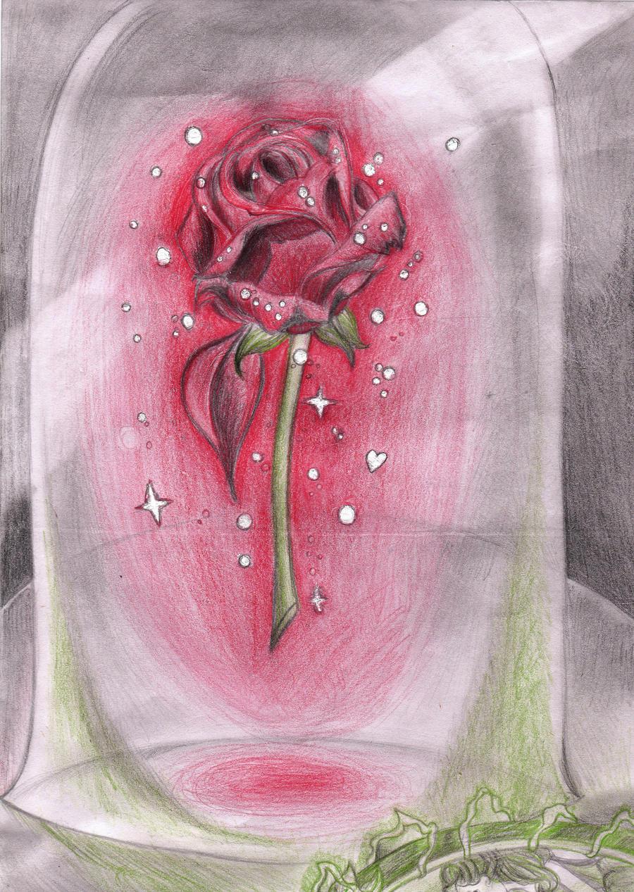 Enchanted Rose Drawing: Enchanted Rose By LittleMissJo On DeviantArt