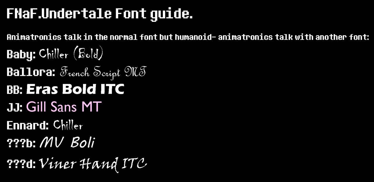 FNaF Undertale font guide by AmetrineDragon on DeviantArt
