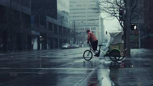 Pedicab in the Rain