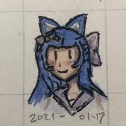 Fox Girl quick paint