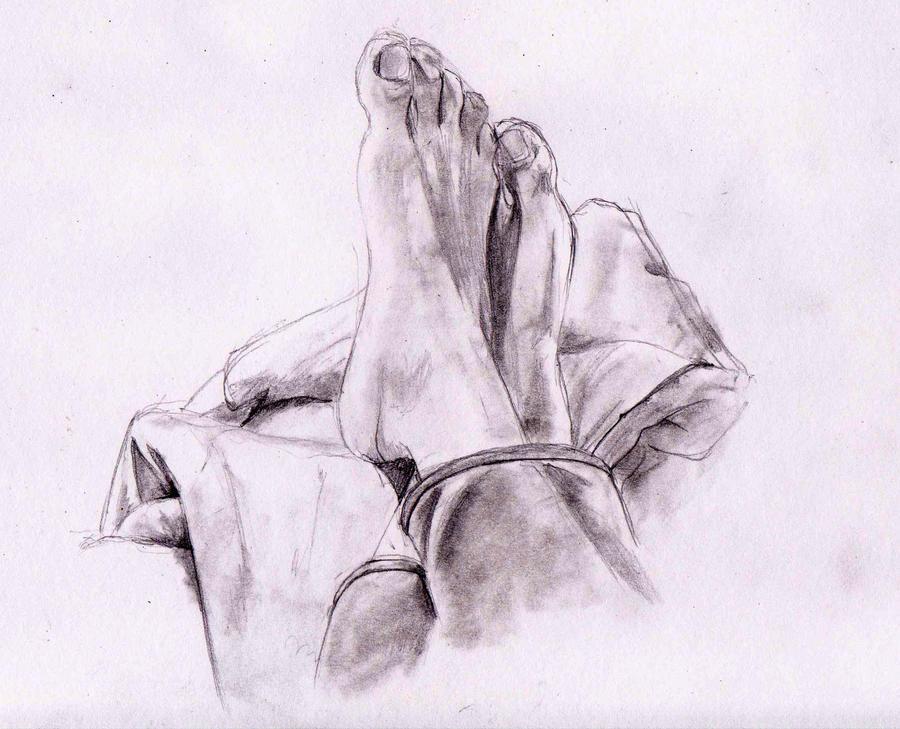 Baby feet sketch