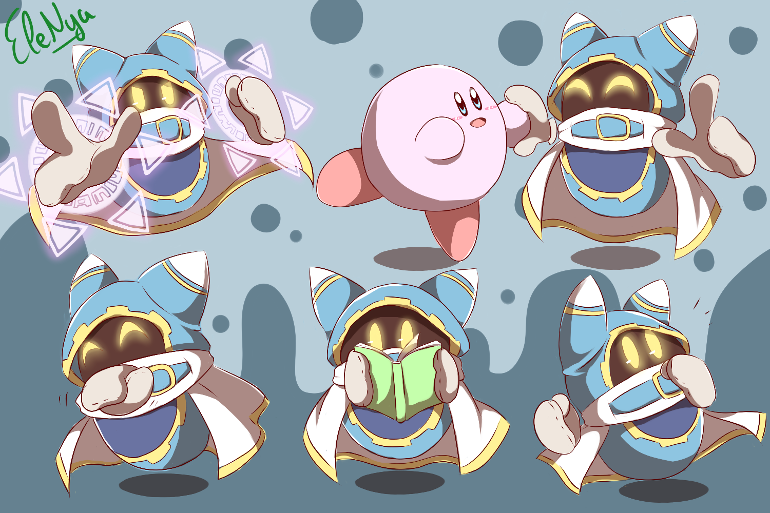 Nya Kirby Wallpaper: Magolors (color And Lineart Testing) By Ele-nya On DeviantArt