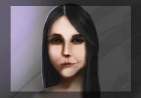 black haired girl by demolitiondan