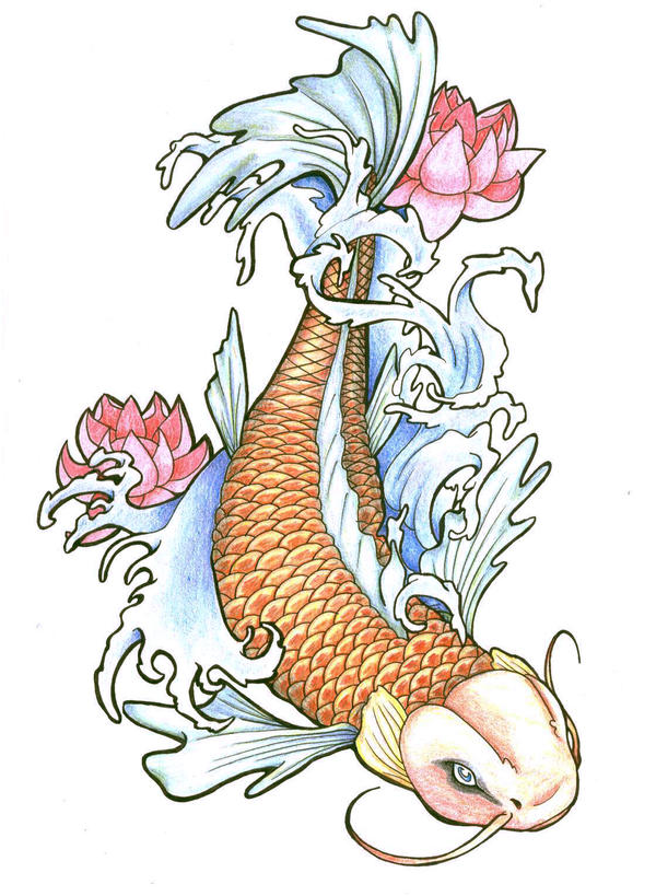 Japanese koi by zerojigoku on deviantart for Koi fish japanese art