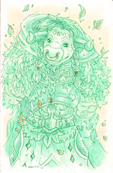 Sketch: Moo druid by monniponi