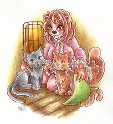Sketch: Yenay and her Nekomata