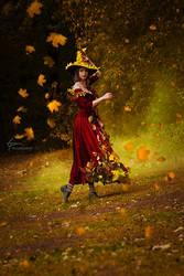 Mabon. Witch's pot. by Fealin-Meril