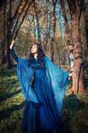 Spring in Doriath. Beren and Luthien. by Fealin-Meril
