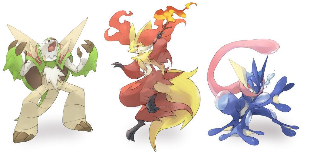 Pokemon xy starters final evolution by kirbythestar on deviantart - Evolution pokemon xy ...