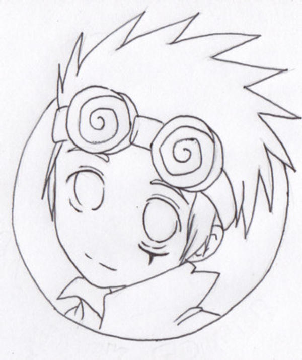Chibi Jack Spicer Lineart by darciedork55