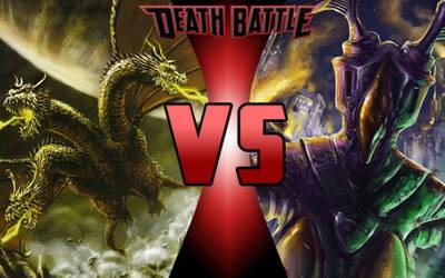 DEATH BATTLE: King Ghidorah vs Zetton by G-Odzilla