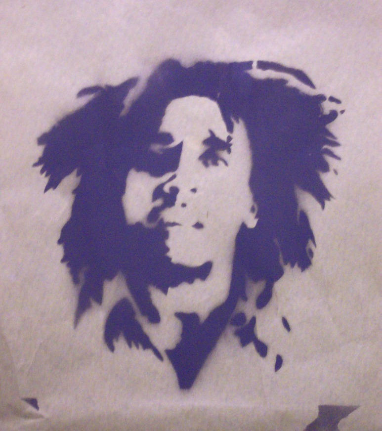 Bob Marley Stencil by sublime0747