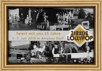 2.   25 years Zirkus Lollypop - Flyer/front by oOCreaFilyaOo