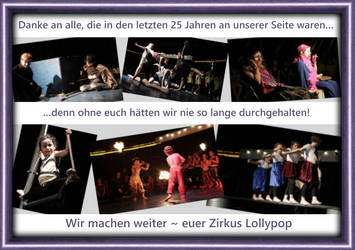 1.   25 years Zirkus Lollypop - Flyer/back by oOCreaFilyaOo