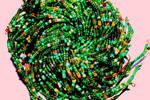 Spirals of beads
