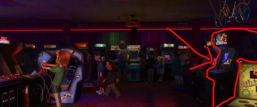 Wreck it ralph - Sonic arcade machine. by codeman160