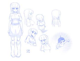 Maud Pie concept sketches by CrimsonBugEye