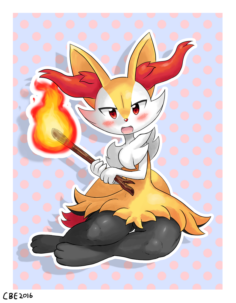 Braixen by CrimsonBugEye