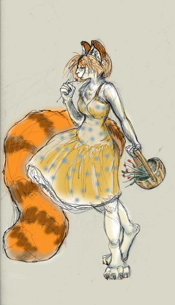 Lara Sketch by nippyfrog