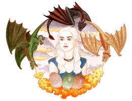 Daenerys Targaryen by Naineuh