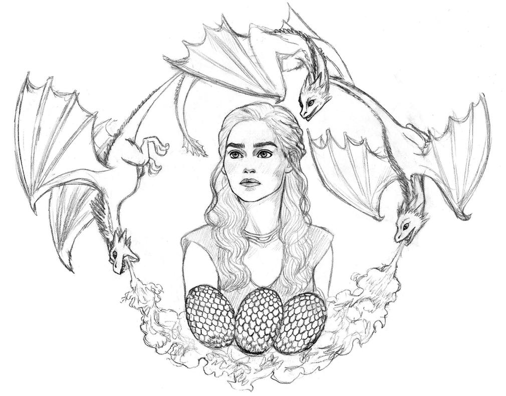 D Line Drawing Game : Daenerys sketch by naineuh on deviantart