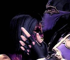 Let me hold you, Mileena by MK-Rainplz