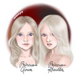 Princesses Aerea  Rhaella Targaryen by abiiibabejpeg