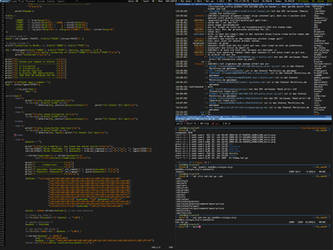ArchLinux and Awesome2 at Work