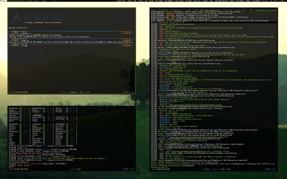 ArchLinux - Awesome Greenish