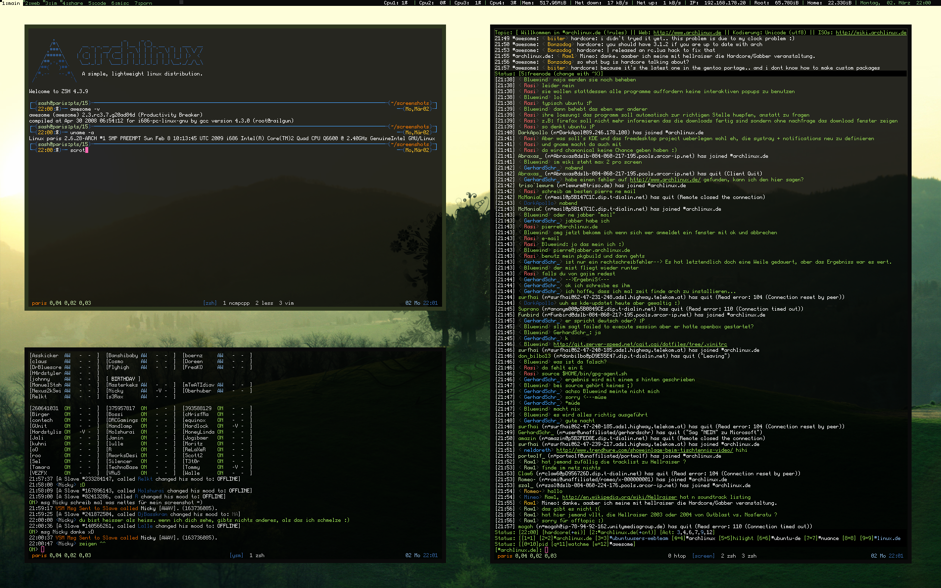 ArchLinux - Awesome Greenish by nustyle