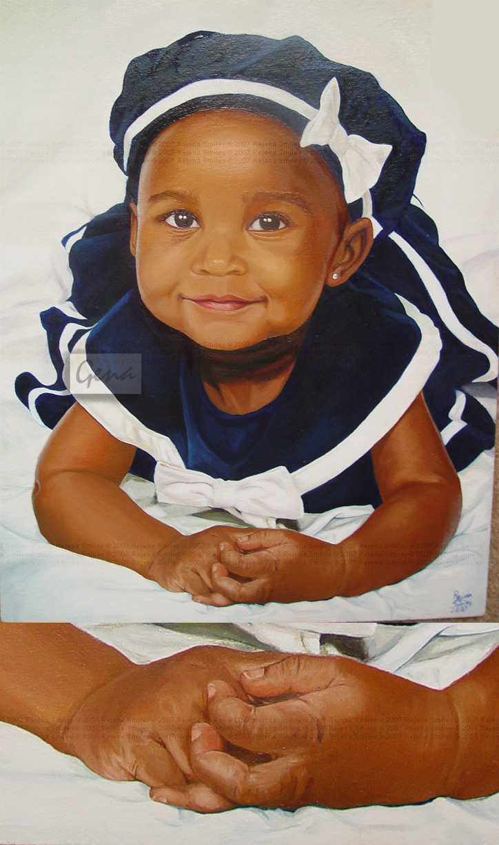 Baby commission-- oil painting by genaminna