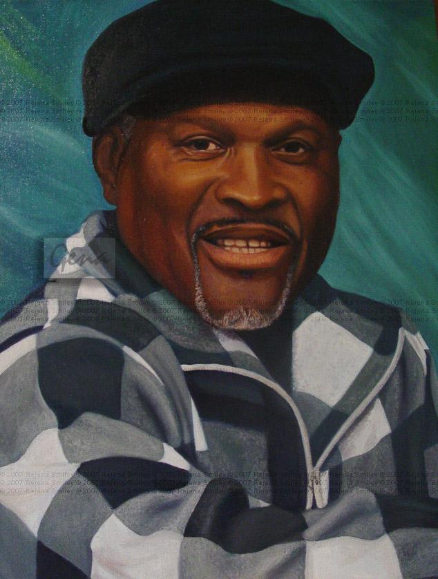 Mr. Jenkins' Dad-oil painting by genaminna
