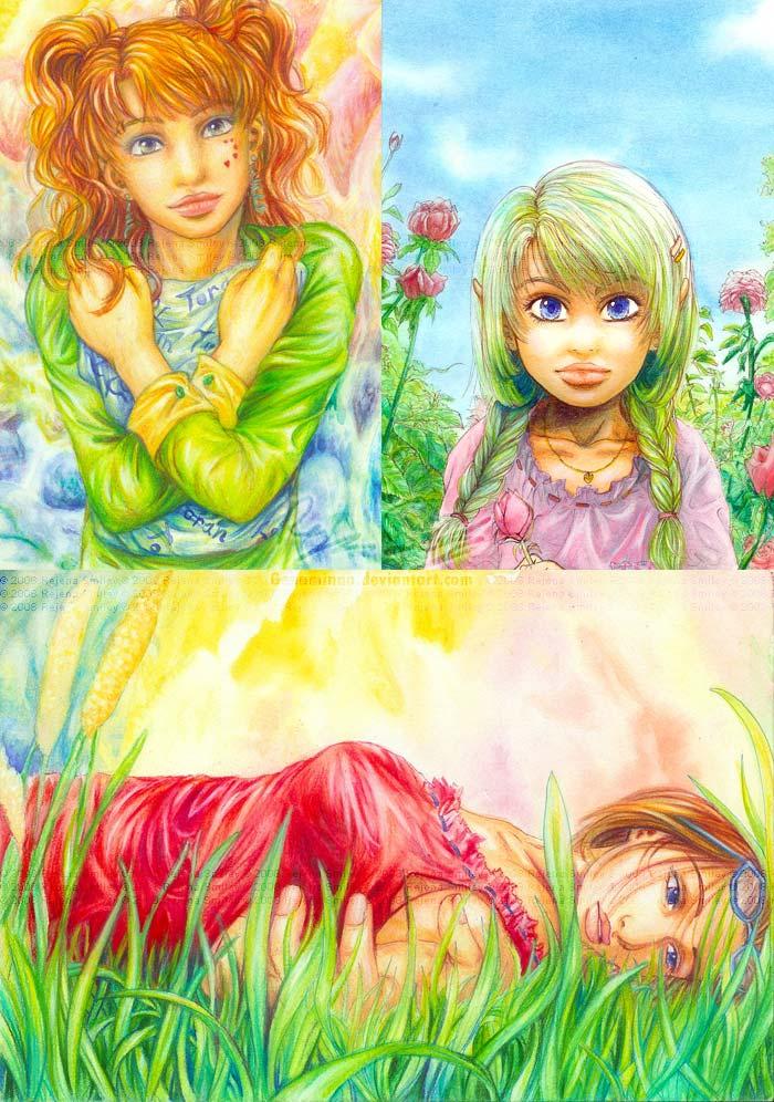 Random Watercolors +practice+ by genaminna