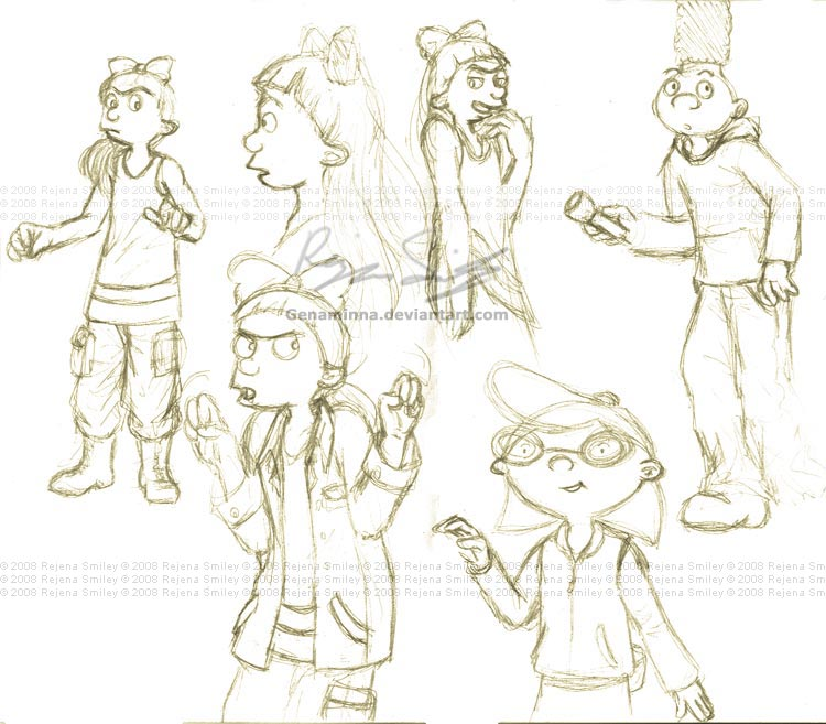 Hey Arnold sketches