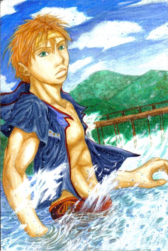 Swishing in the Ocean...-Rukii by genaminna
