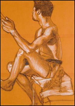 Guy sitting --Life drawing