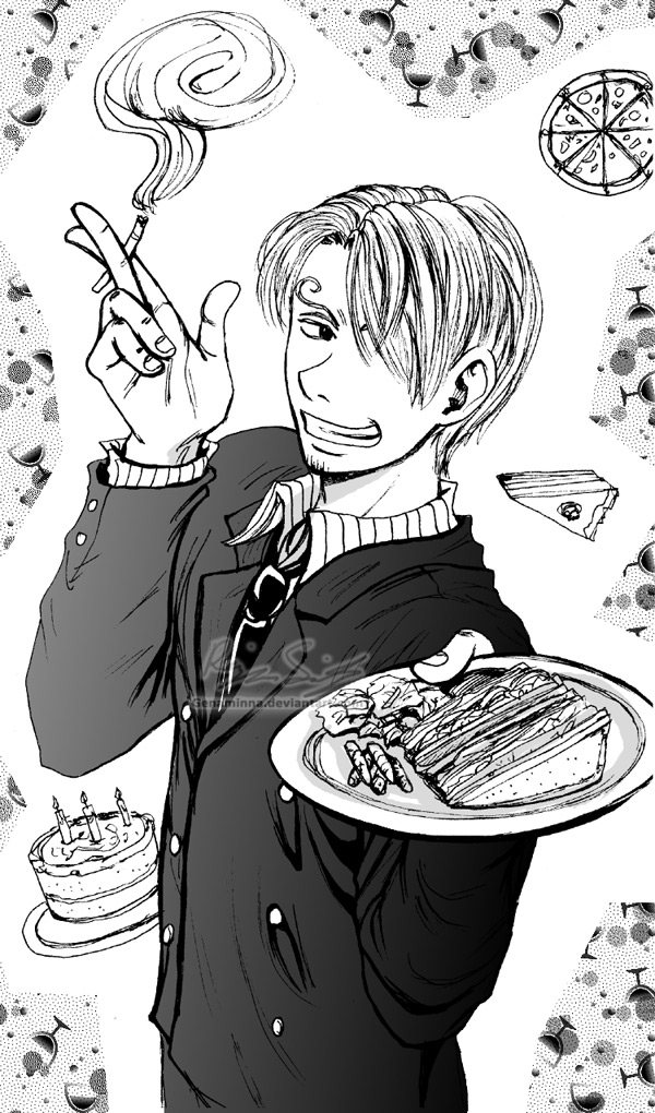Sanji-- Lookin' Tasty by genaminna