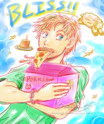 Sheep plus Pizza equals... by genaminna