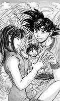 Goku, Chichi and Gohan- Amongst the Heavens by genaminna