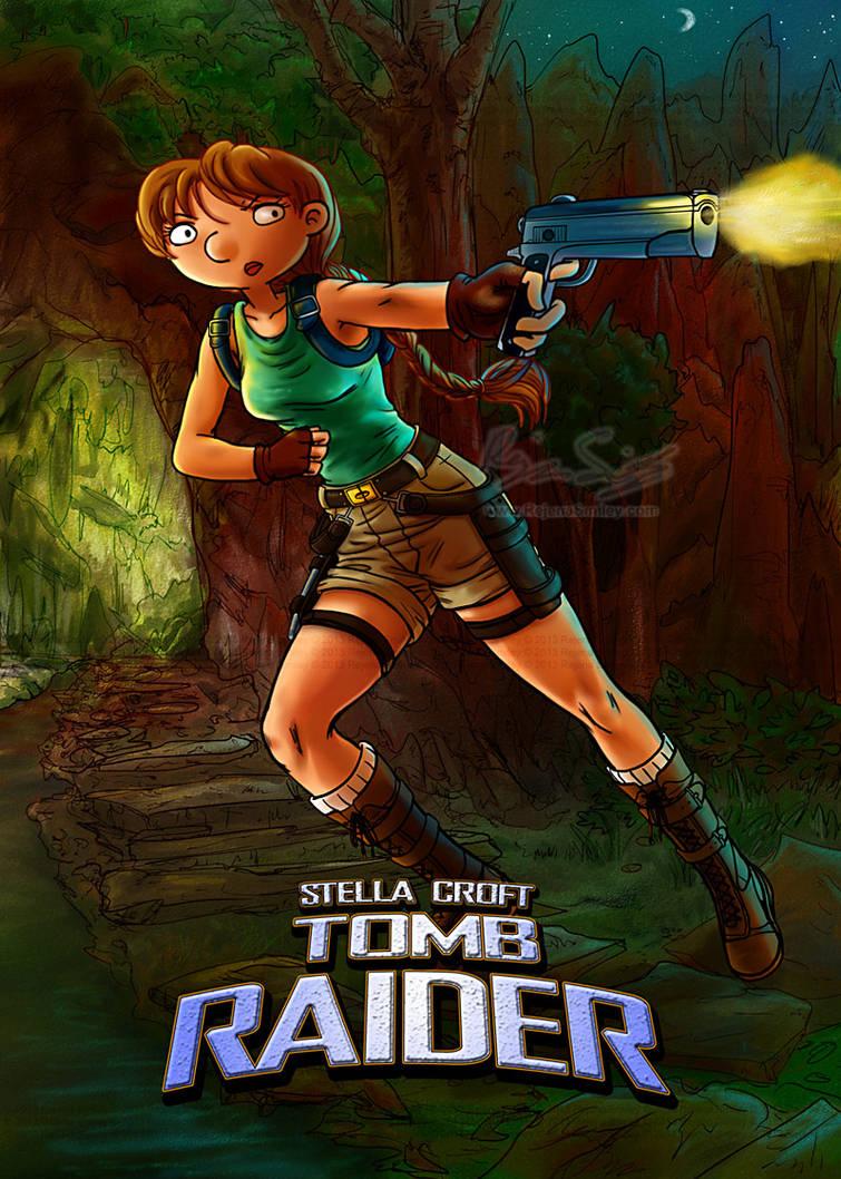 Stella Croft: Tomb Raider-- Hey Arnold by genaminna