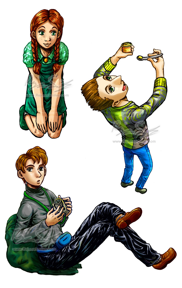 Alan, Lila and Stinky - HA! my style... by genaminna
