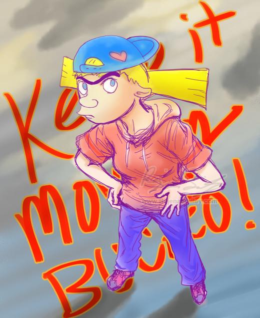 A Random Helga Thing-- 'Keep it moving, Bucko!' by genaminna
