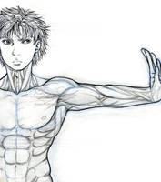 Rukii Anatomy Practice (sketch) by genaminna