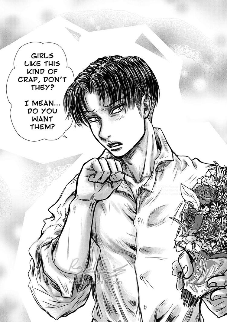 Levi-- 'Do you want them or not?' by genaminna
