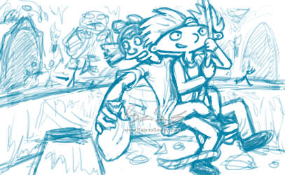 Snatch!- Hey Arnold- The Jungle Movie (sketch) by genaminna