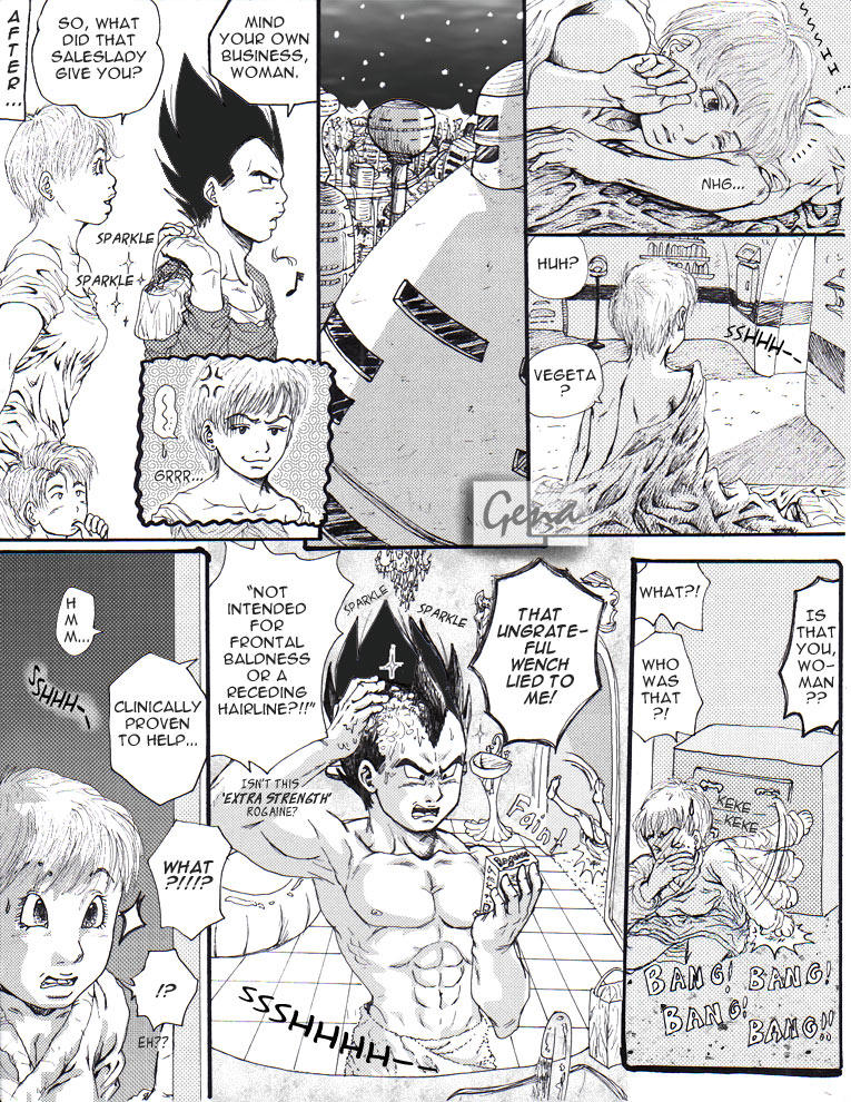 Vegeta's hair problems-pg 2of2 by genaminna