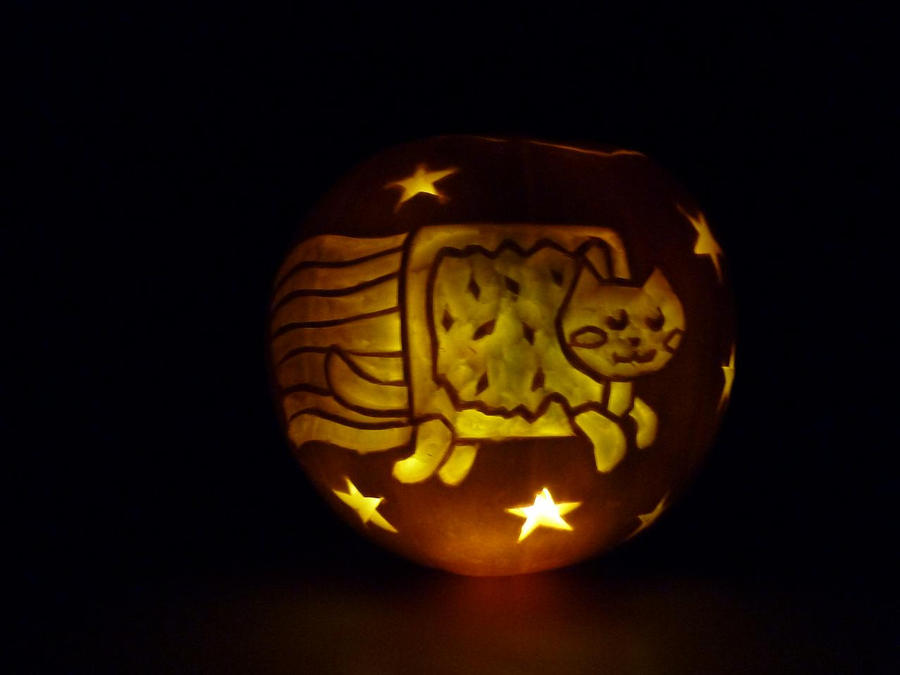 nyan cat pumpkin by dangodei