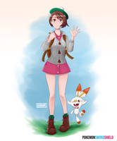 Pokemon Sword and Shield female protagonist~ by elfudraws